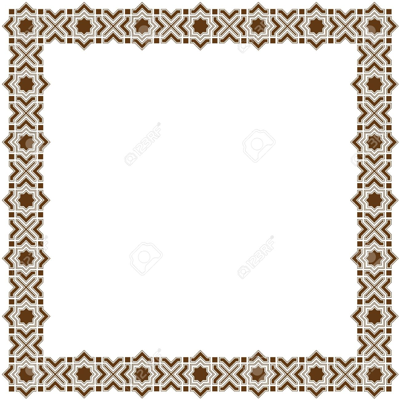 Simple decorative islamic frame royalty free cliparts vectors and simple decorative islamic frame stock vector 12825688 altavistaventures Images