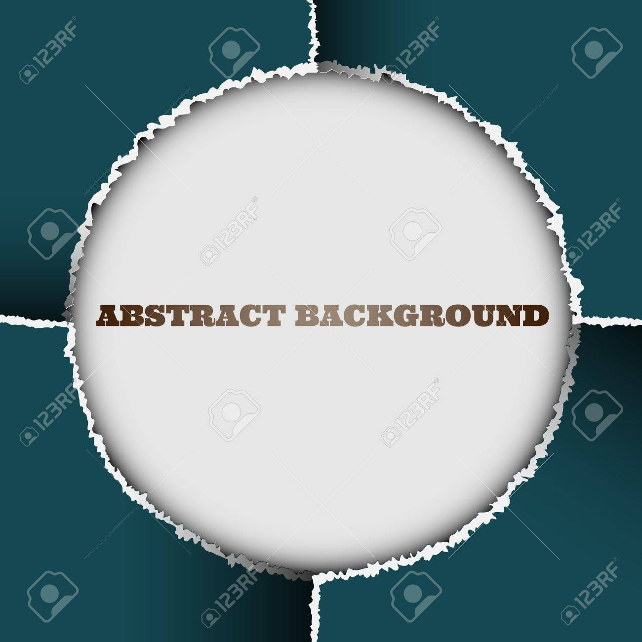 Round background of torn paper.Vector eps10 Stock Vector - 12825698