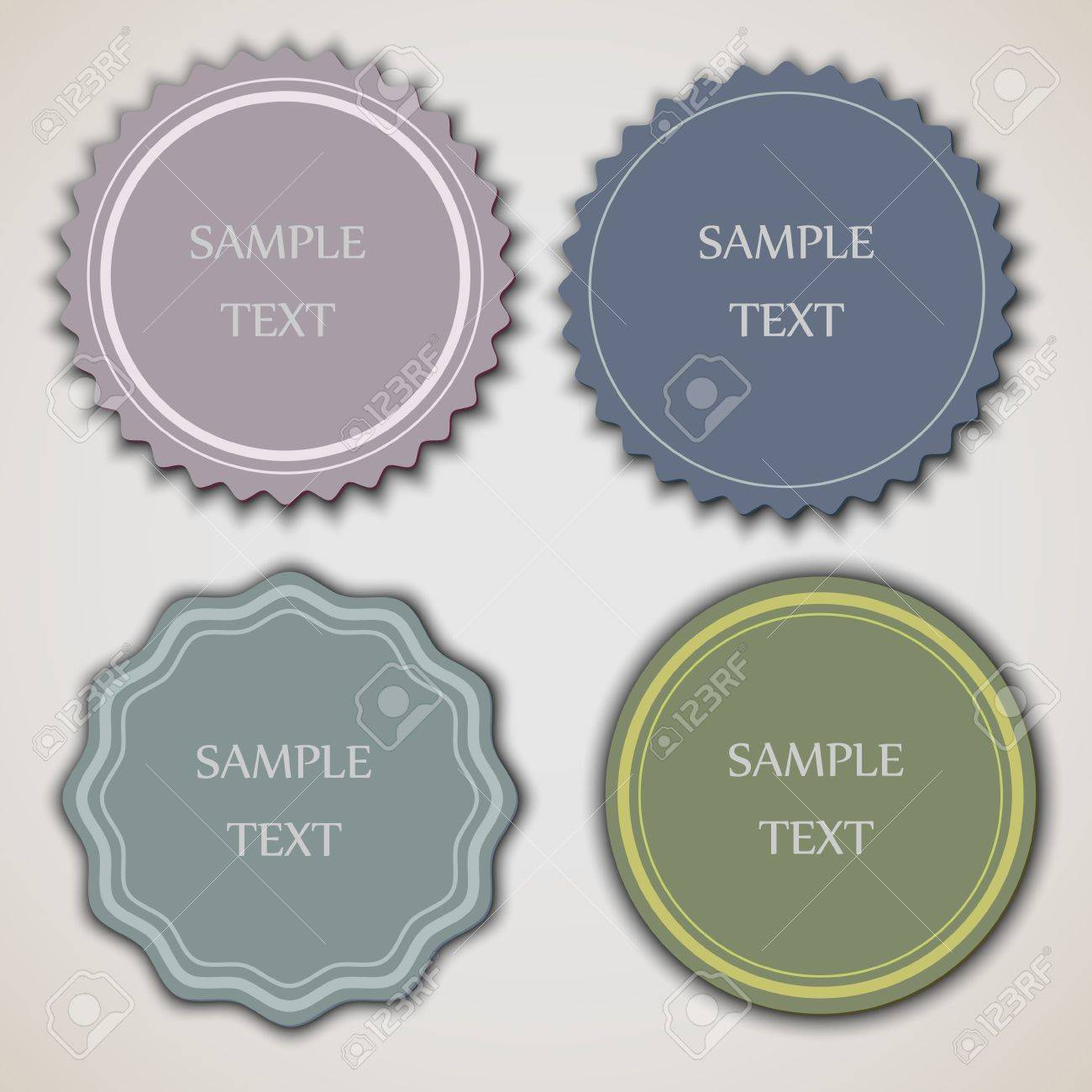 Four vintage labels.Vector eps10 Stock Vector - 12825834