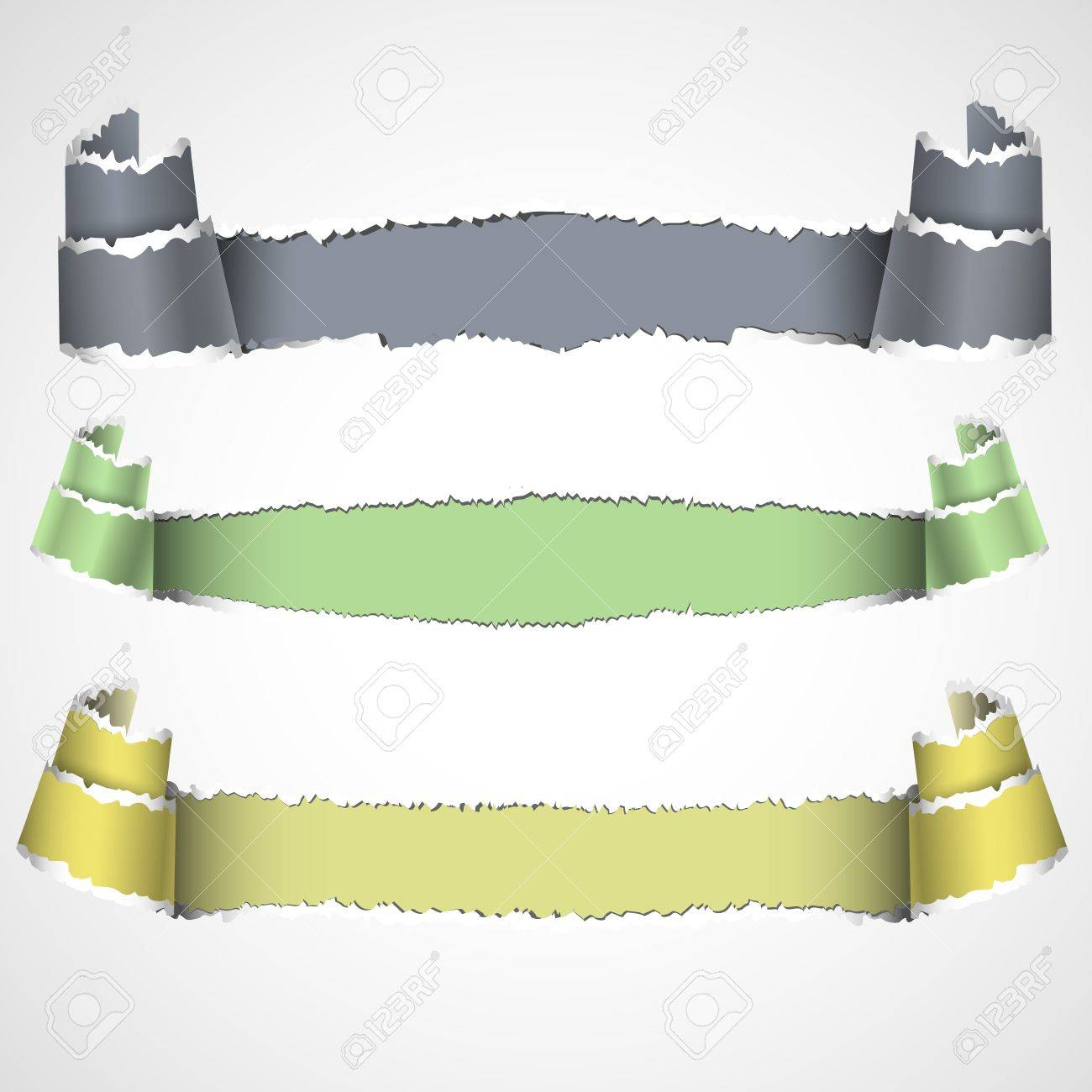 Three torn paper banners with space for text.Vector eps 10 Stock Vector - 12826922