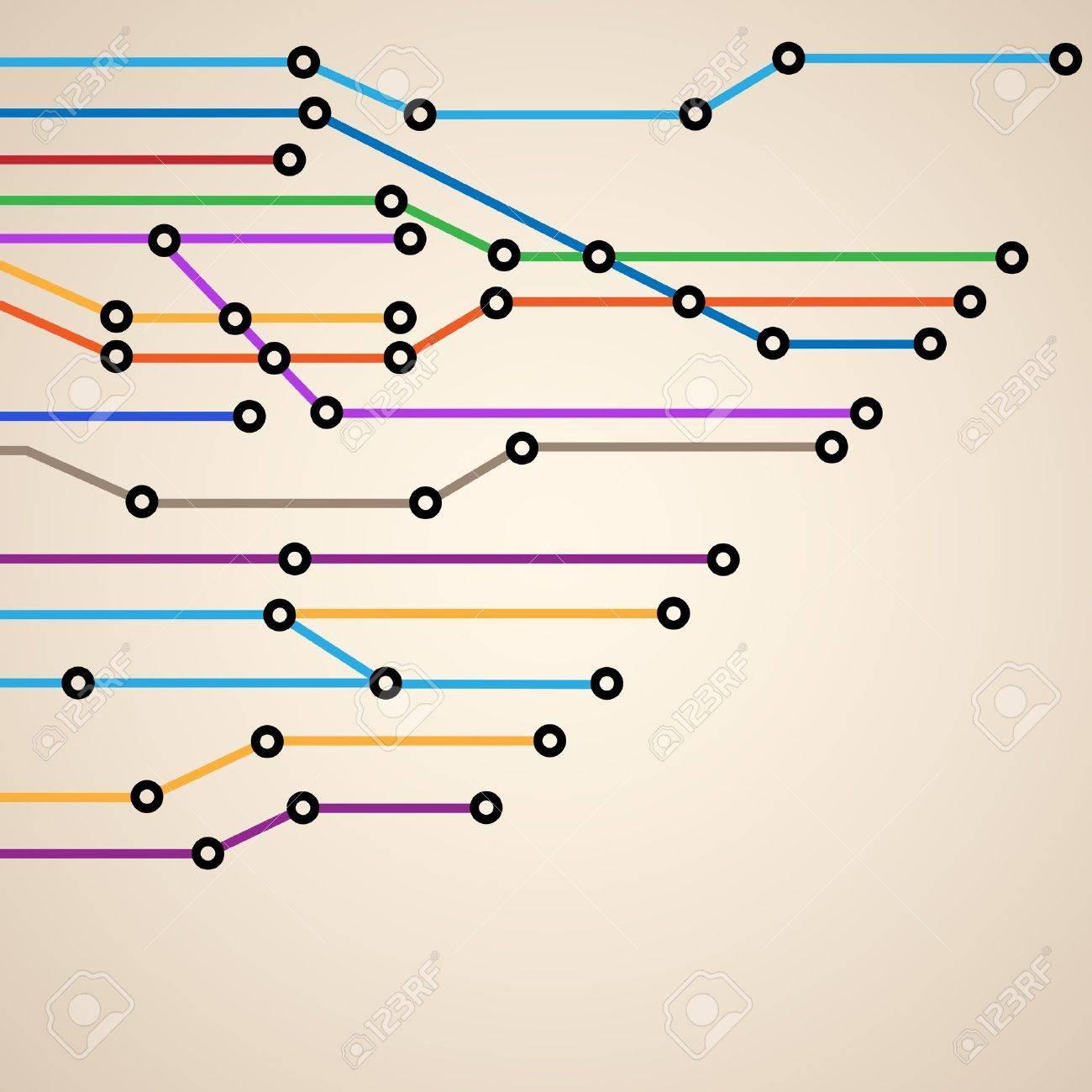 抽象的な地下鉄路線図のイラスト素材ベクタ Image 12967160