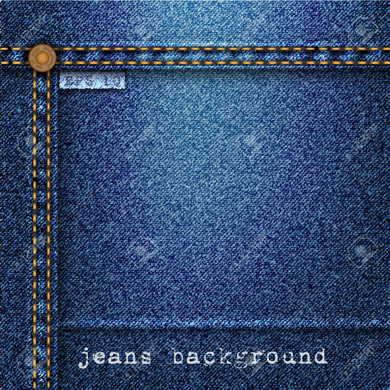Jeans background. Stock Vector - 12967174