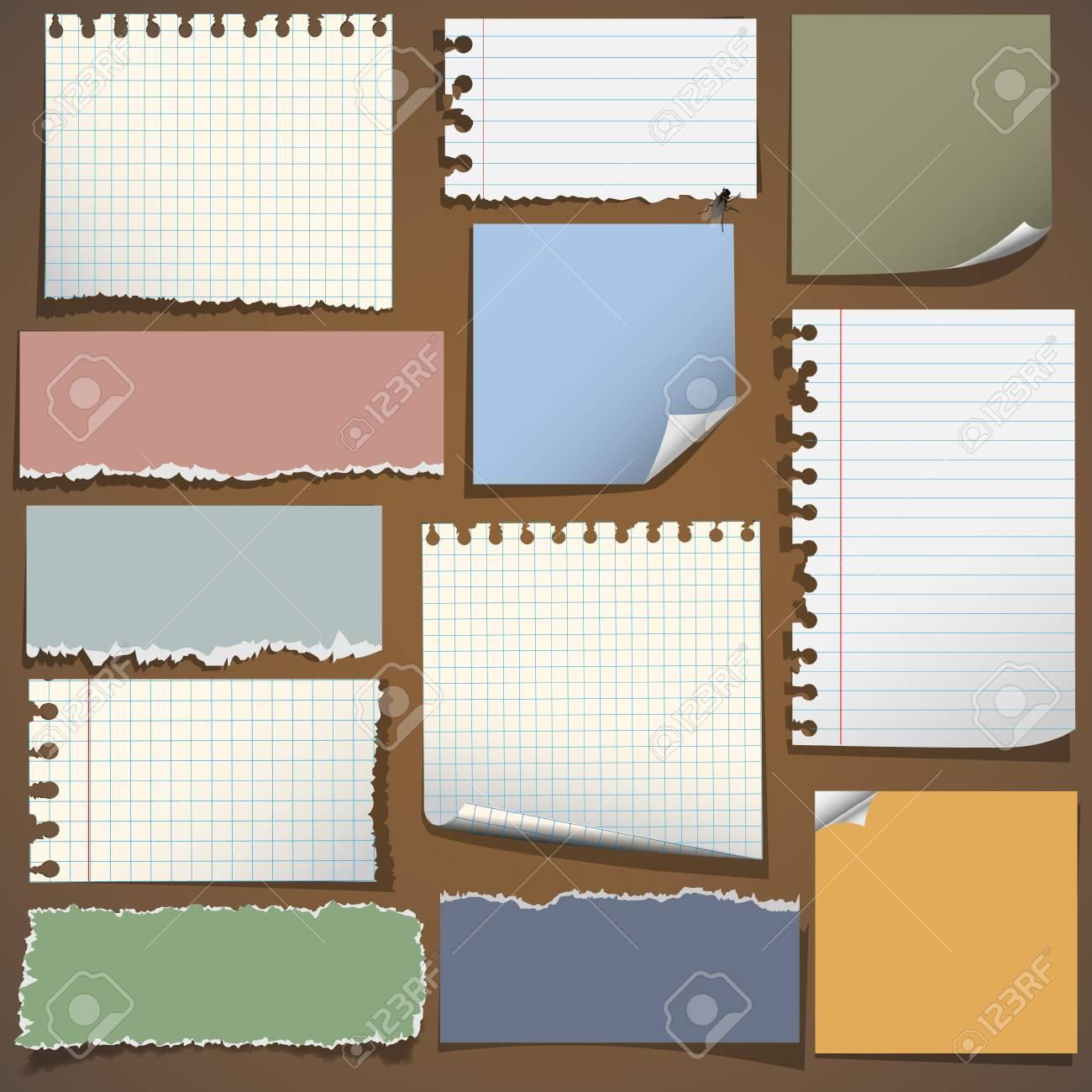 various notes paper royalty cliparts vectors and stock various notes paper stock vector 13123620