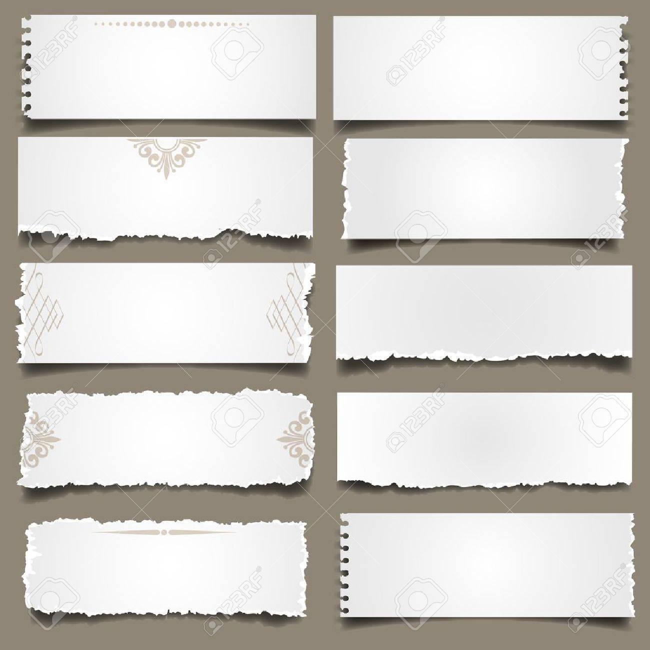 Ten notes paper .Vector eps 10 Stock Vector - 13436110