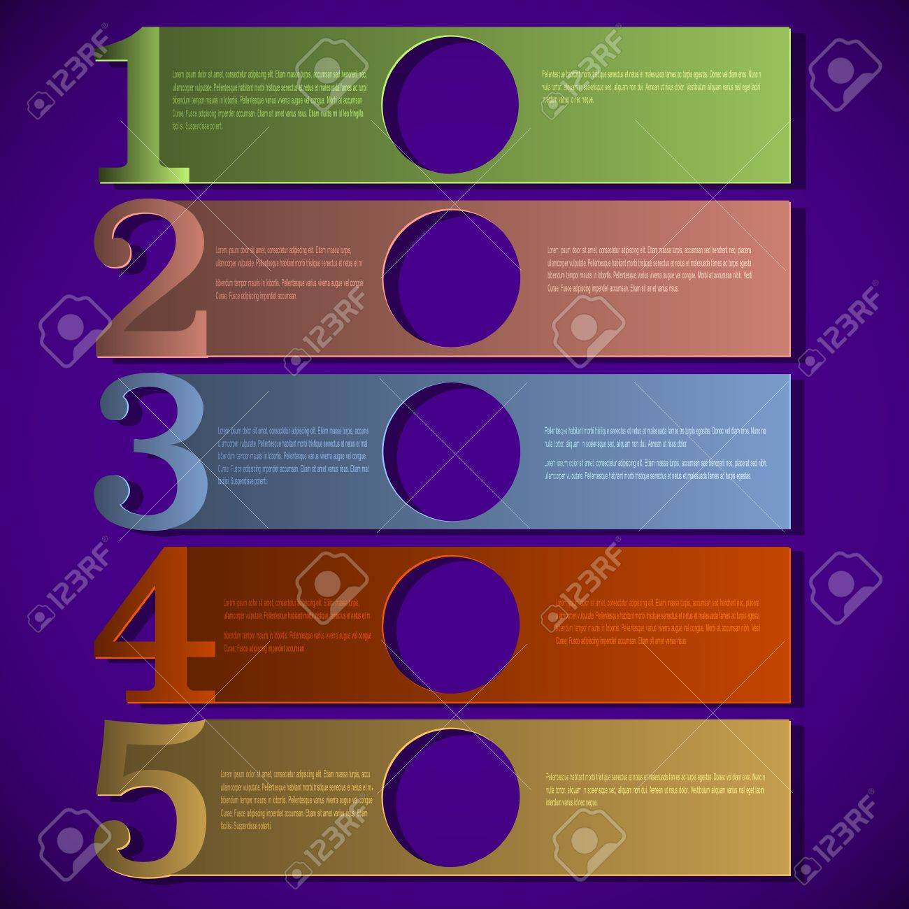 Colorful paper numbered banners design template Stock Vector - 13983293