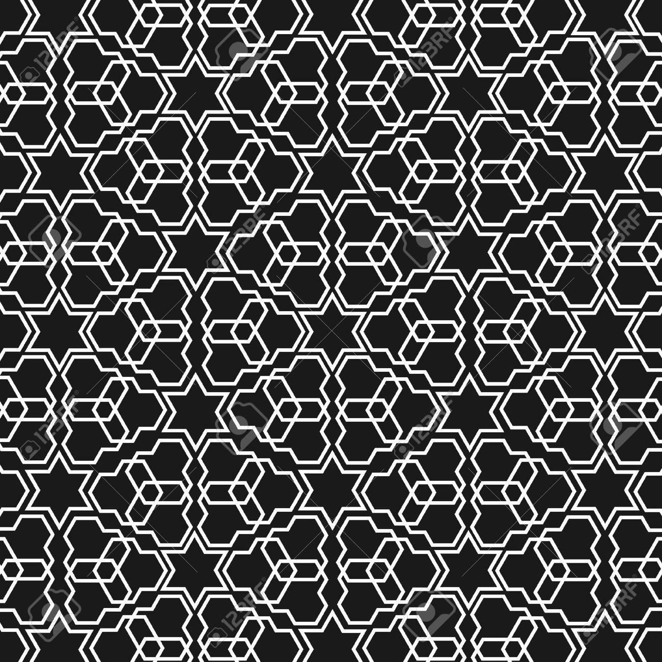 Black and white islamic pattern - 14209931