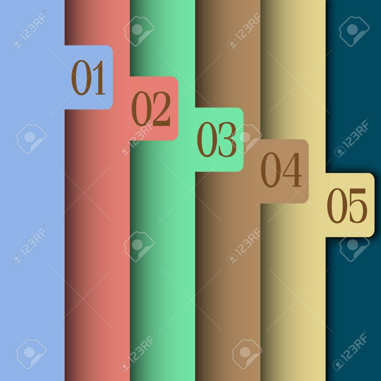 Design template. Paper numbered banners Stock Vector - 14604003