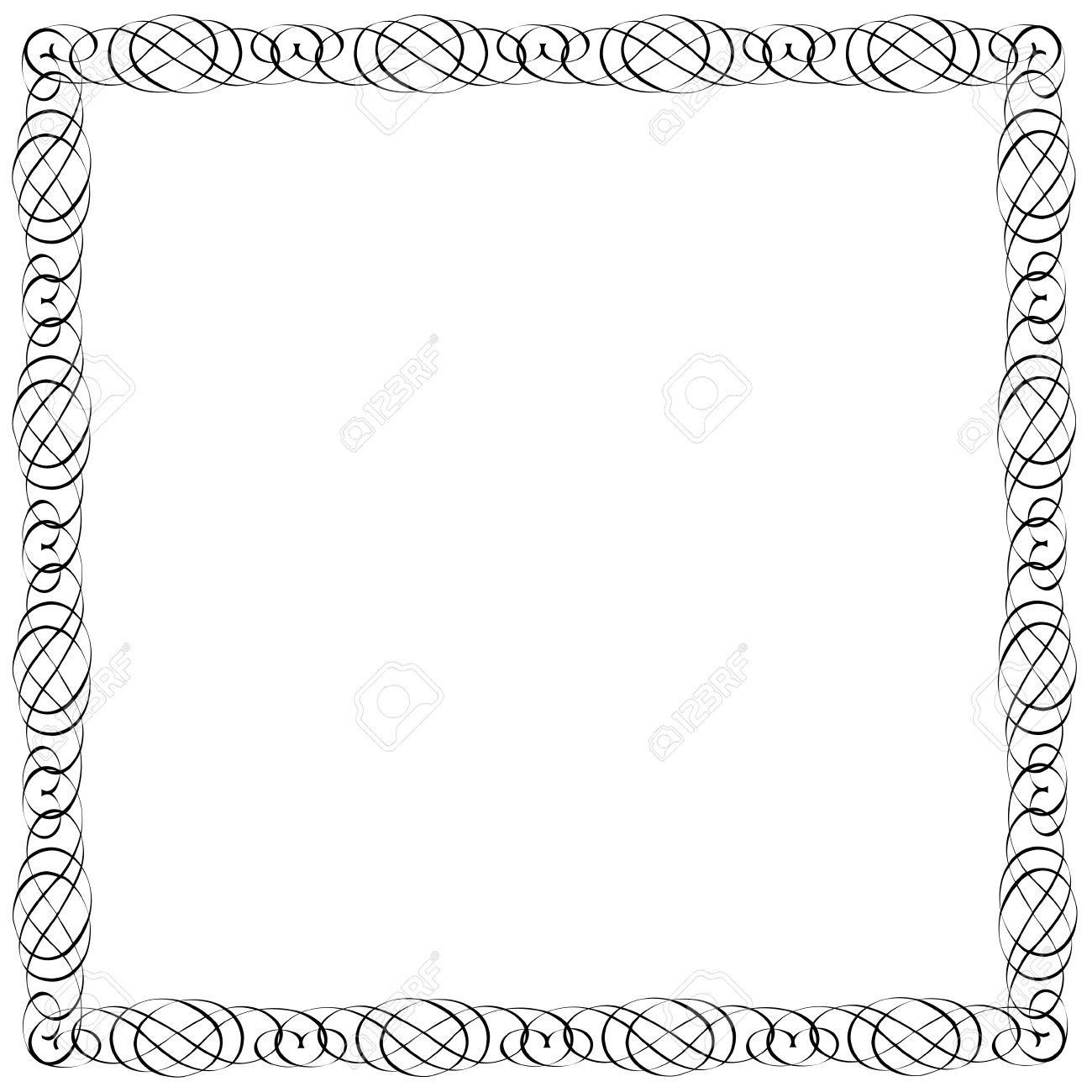 Marco Simple Para El Diseño Caligráfico Ilustraciones Vectoriales ...