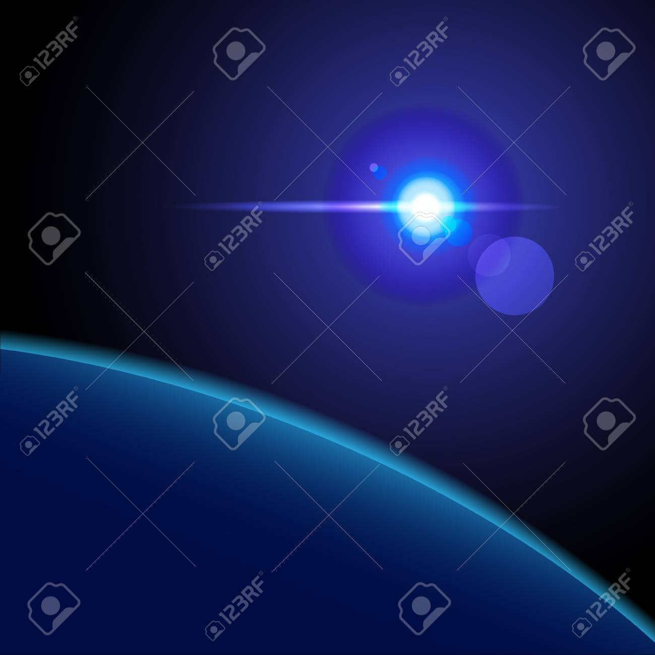 Abstract Space background for design Stock Vector - 14920864