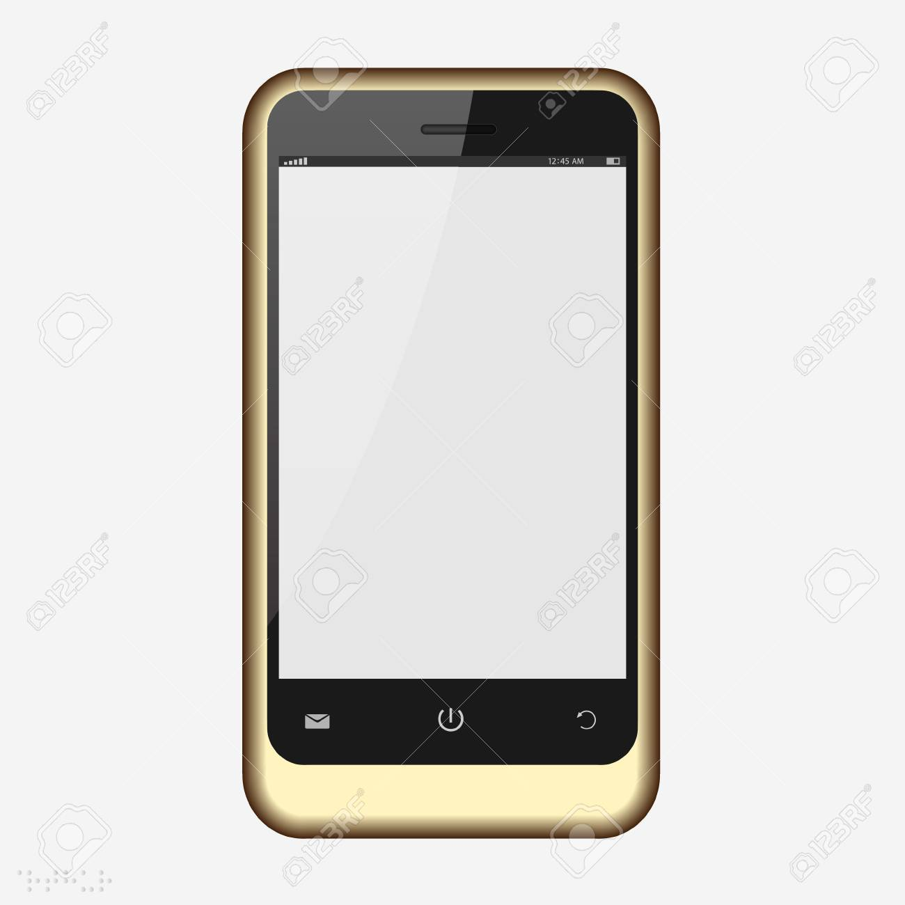 Mobile phone with blank screen isolated on white Stock Vector - 15491777