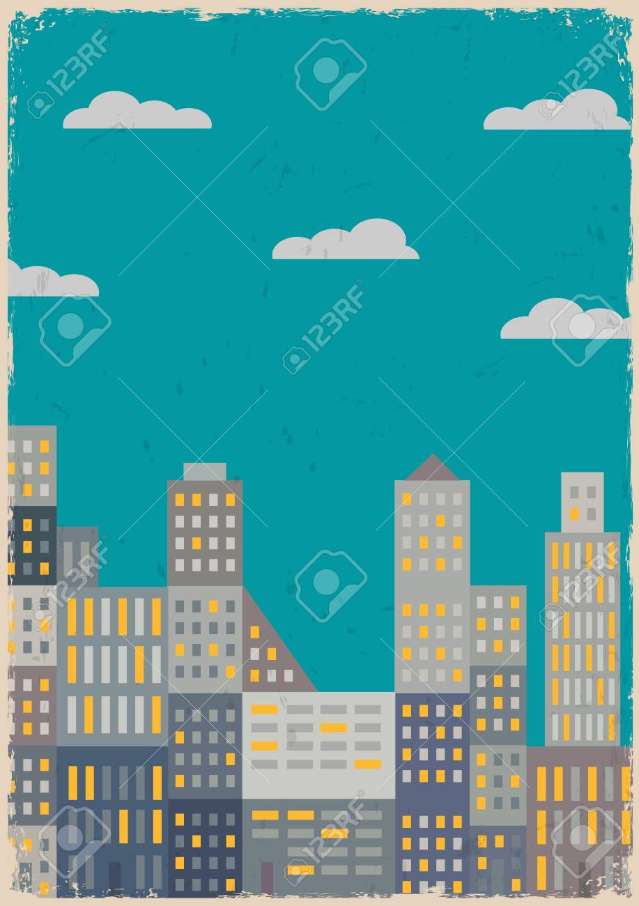 City in grunge style  Vector illustration Stock Vector - 15515826