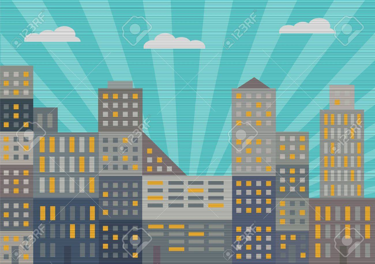 City in retro style  Vector illustration Stock Vector - 15515828