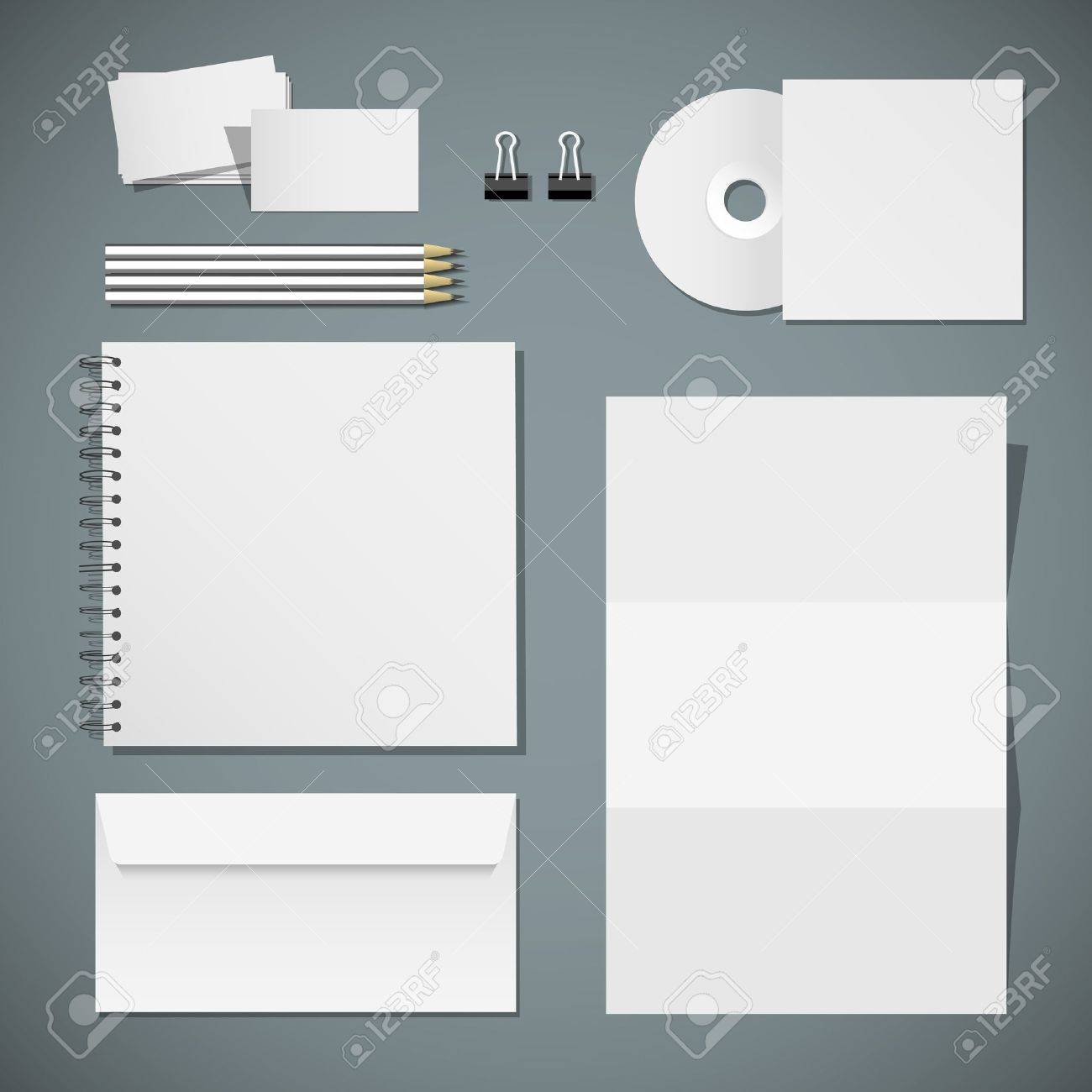 set of corporate identity templates royalty free cliparts vectors