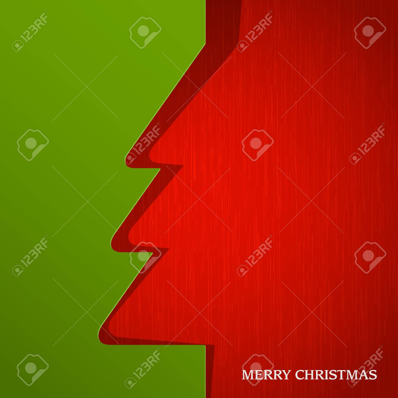 Christmas tree cut out on paper. Stock Vector - 15545256