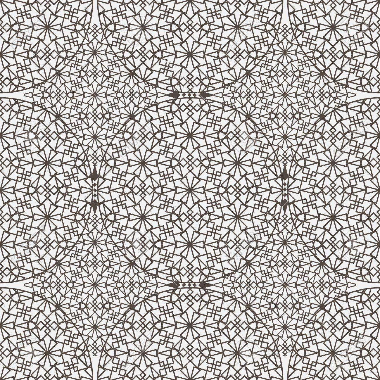 Delicate pattern in arabic style. Vector background Stock Vector - 15931452