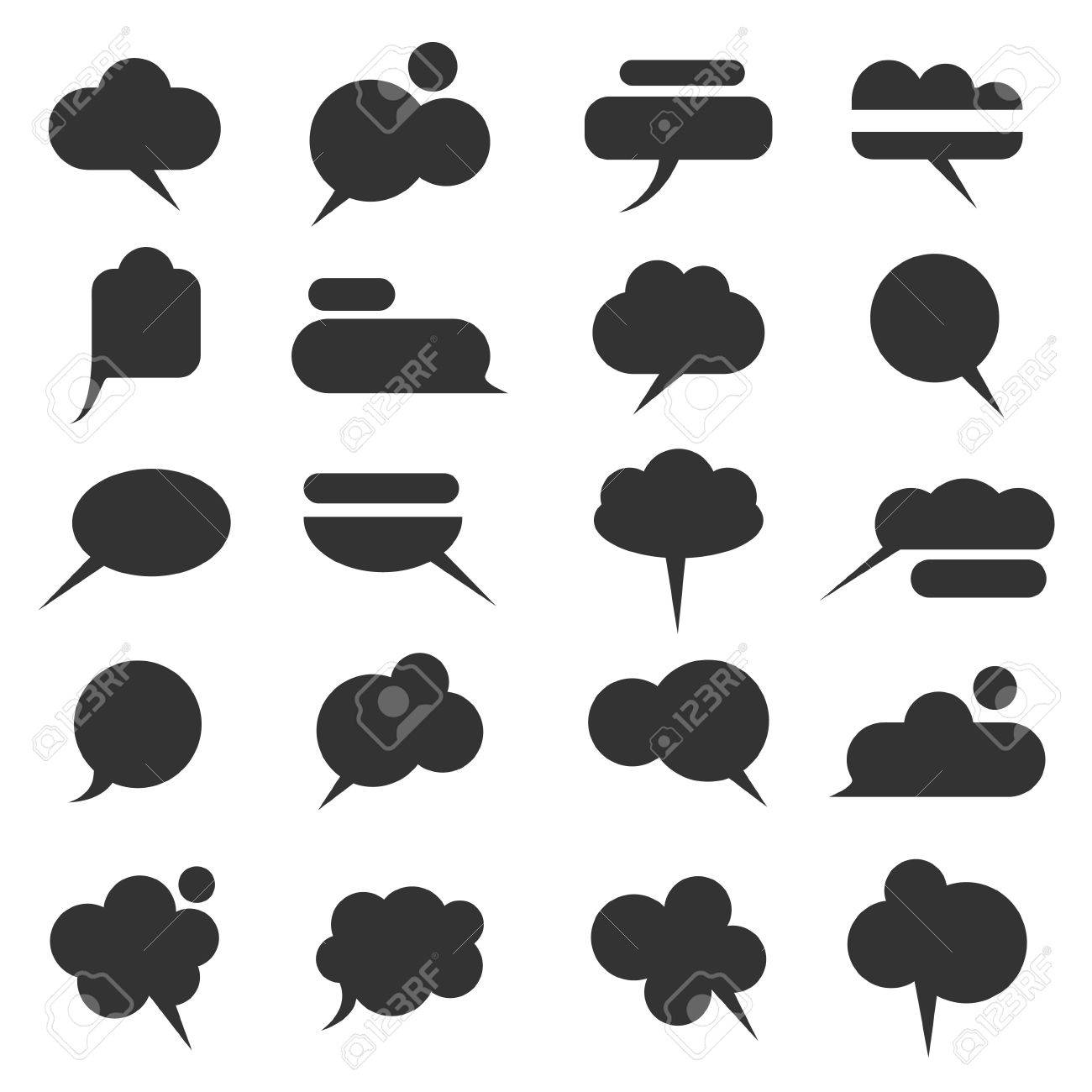 Vector set of various bubbles for speech Stock Vector - 15931437