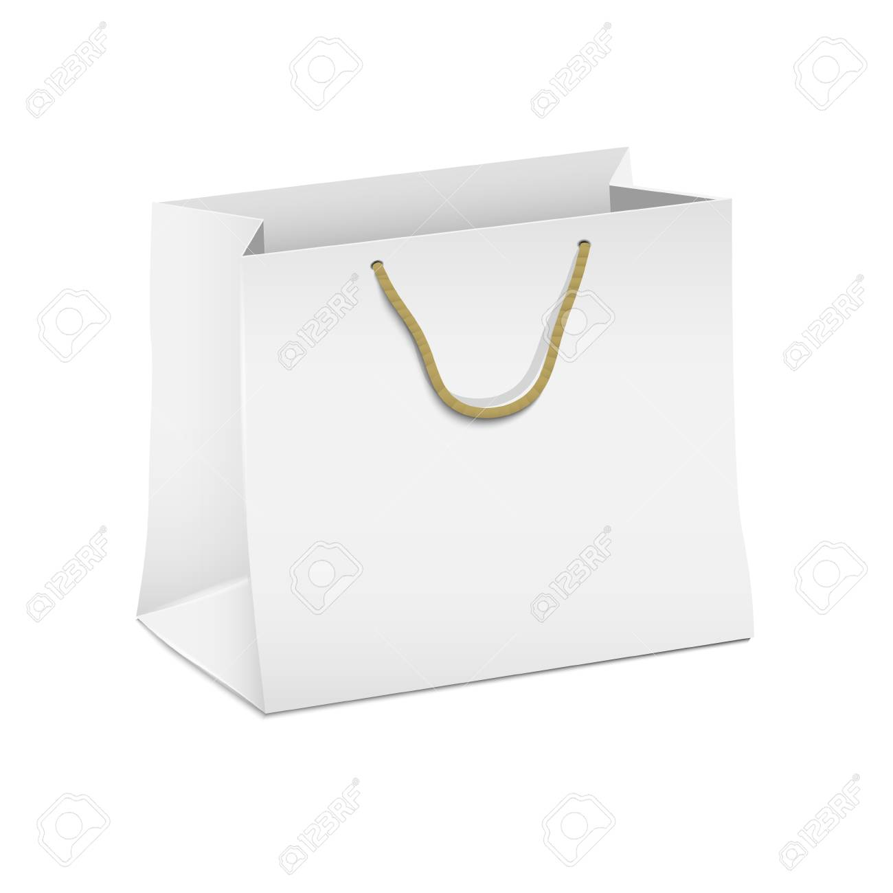 Vector white shopping paper bag Stock Vector - 16470051