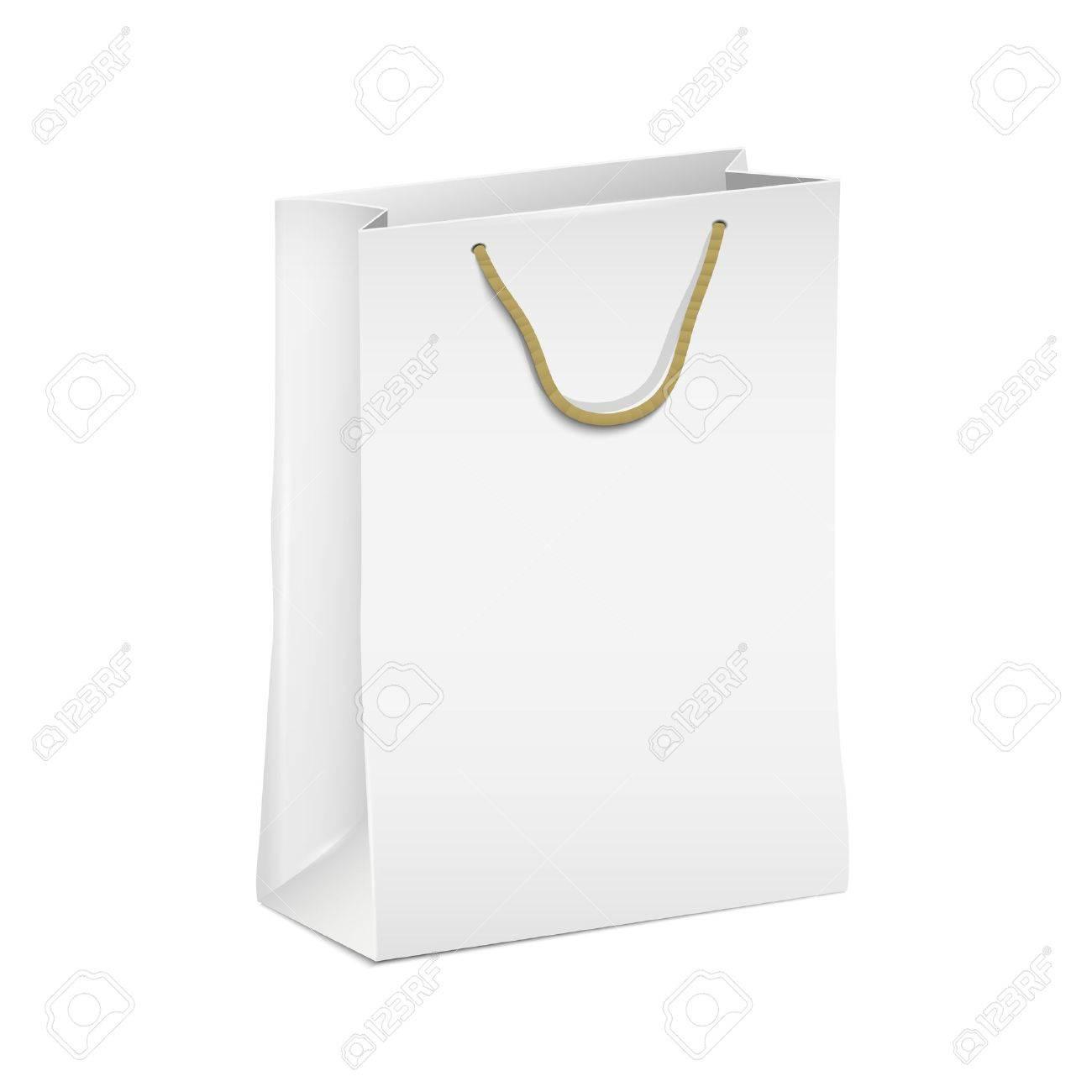 White shopping paper bag Stock Vector - 16470052
