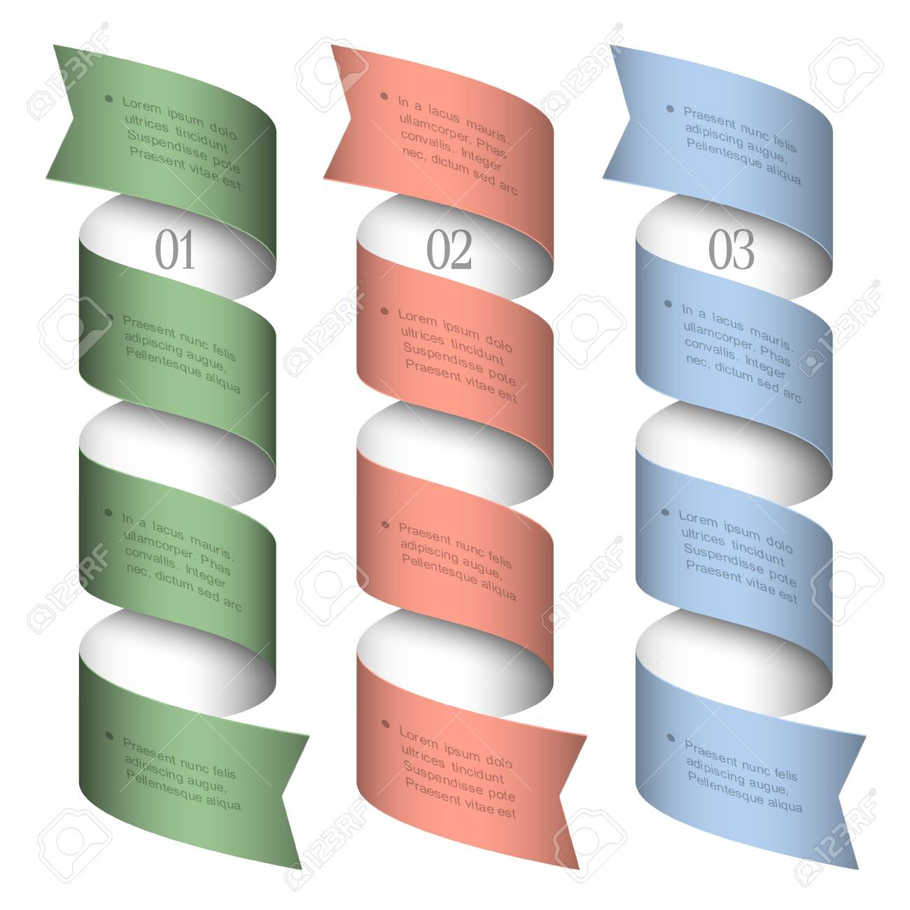 Three numbered ribbons-banners. design template Stock Vector - 16852843