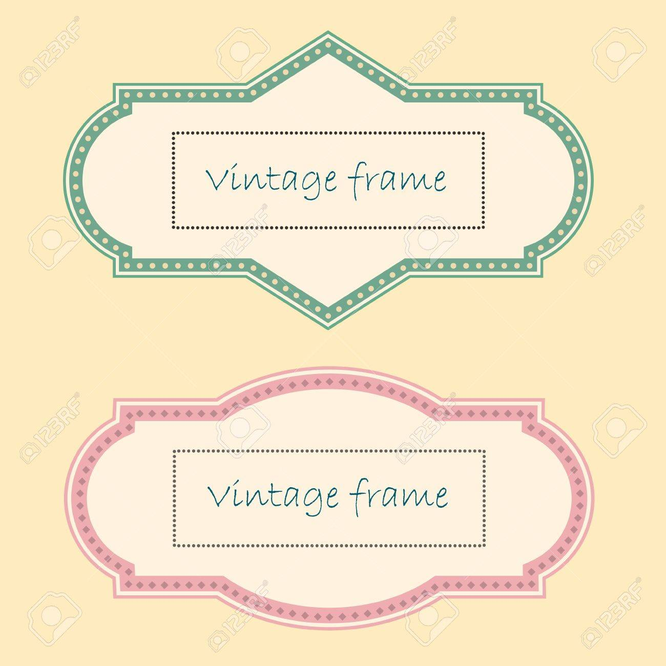Two Vintage Frames. Stock Vector - 16852695