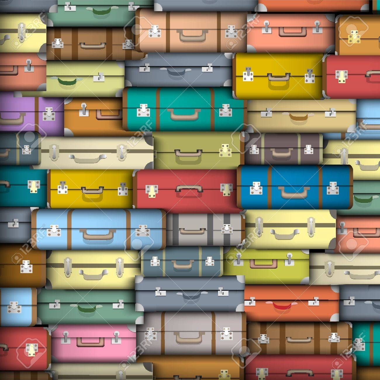 background of colored suitcases - 16852875