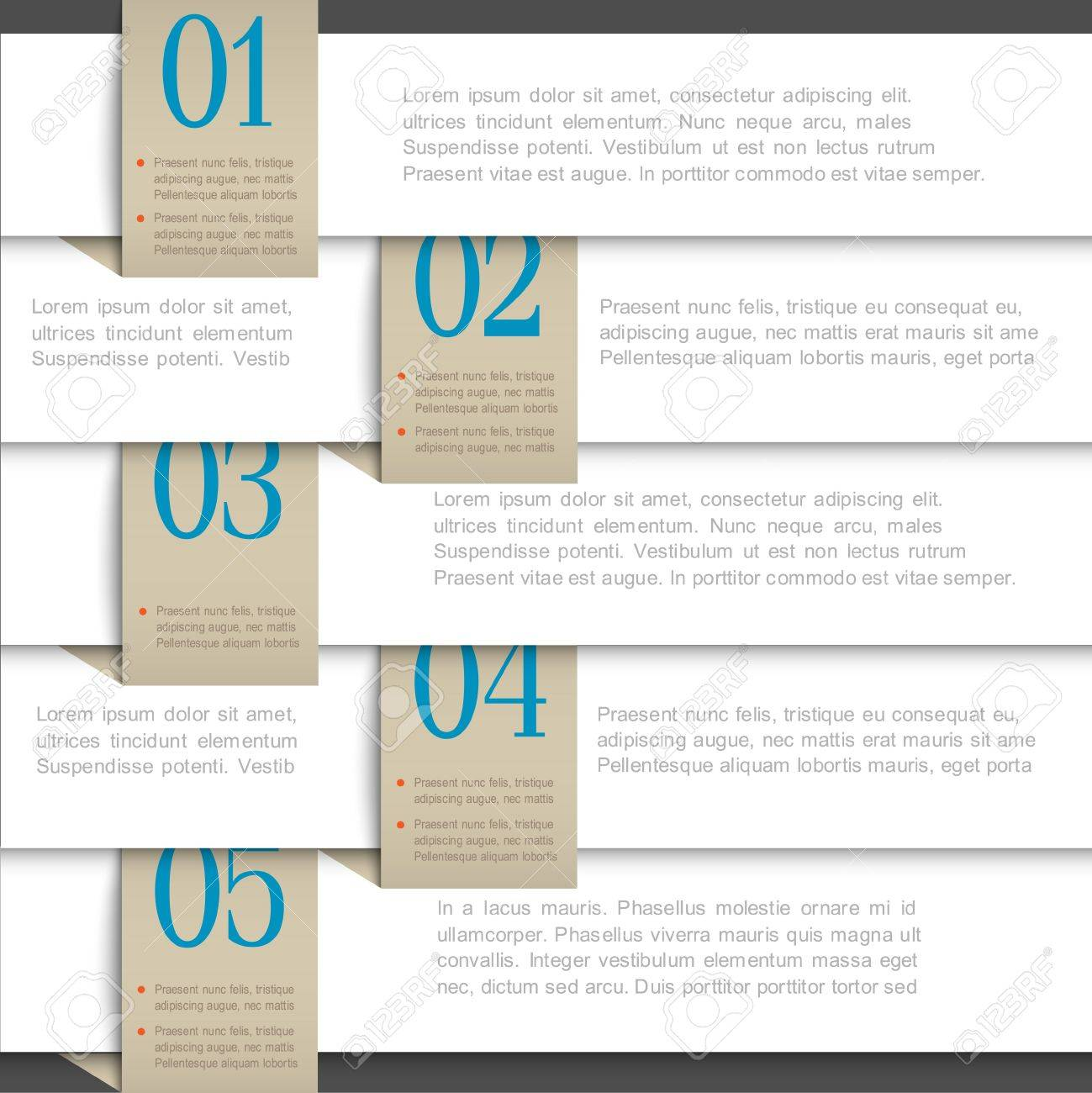 White paper numbered banners  Creative design template Stock Vector - 16852908