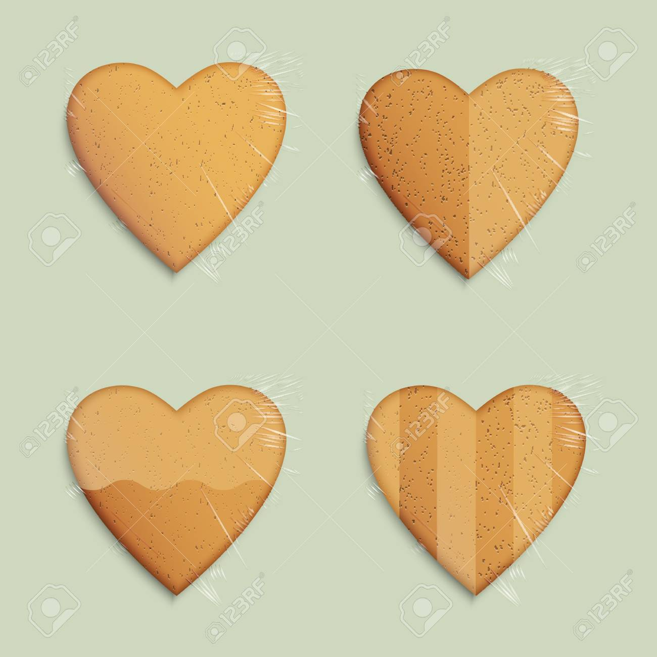 Vector set of hearts shapes cookies Stock Vector - 17338510