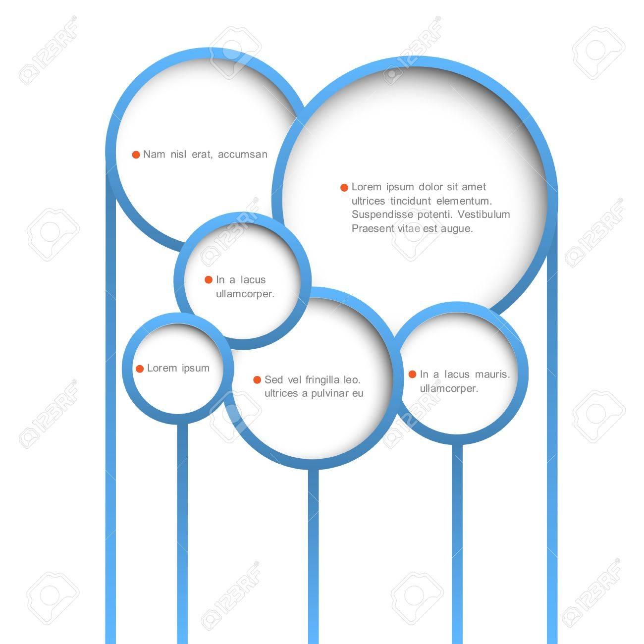 Abstract web design bubbles  Vector design template Stock Vector - 17755104