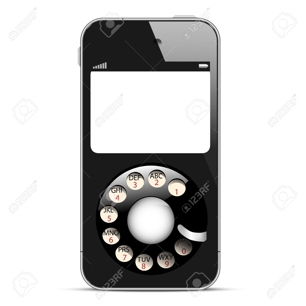 Creative Mobile phone with retro disc dials  Concept vector illustration Stock Vector - 17755101