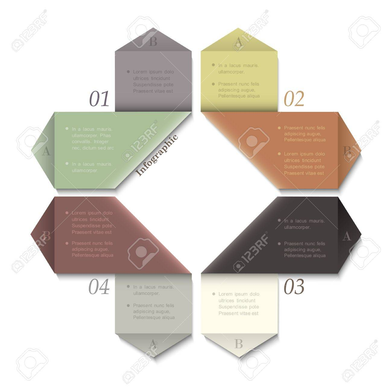 Modern Design template for infographics and website templates or design graphic for business. Vector EPS10 in retro colors Stock Vector - 17755124