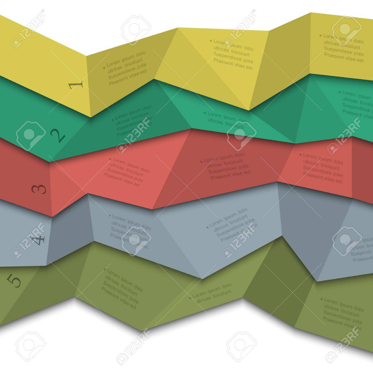 Origami style - creative design template for infographics,numbered banners,website layout Stock Vector - 17911770