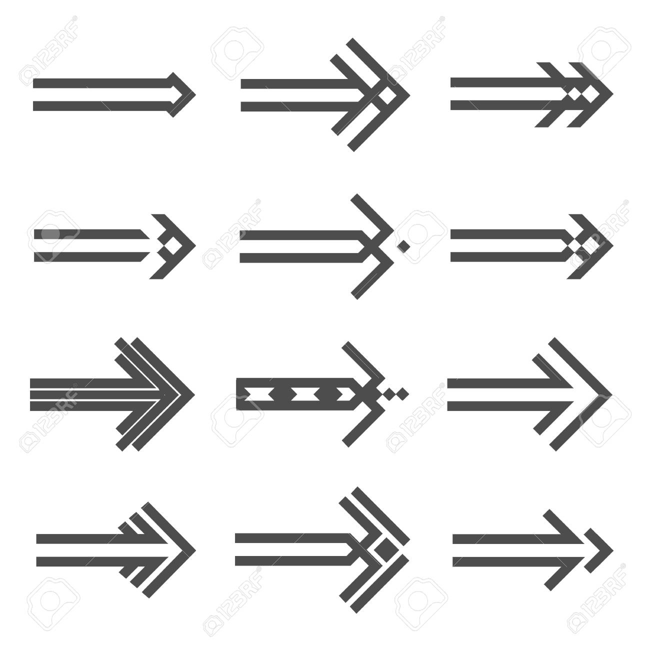 Set of various arrows sign Stock Vector - 17911703