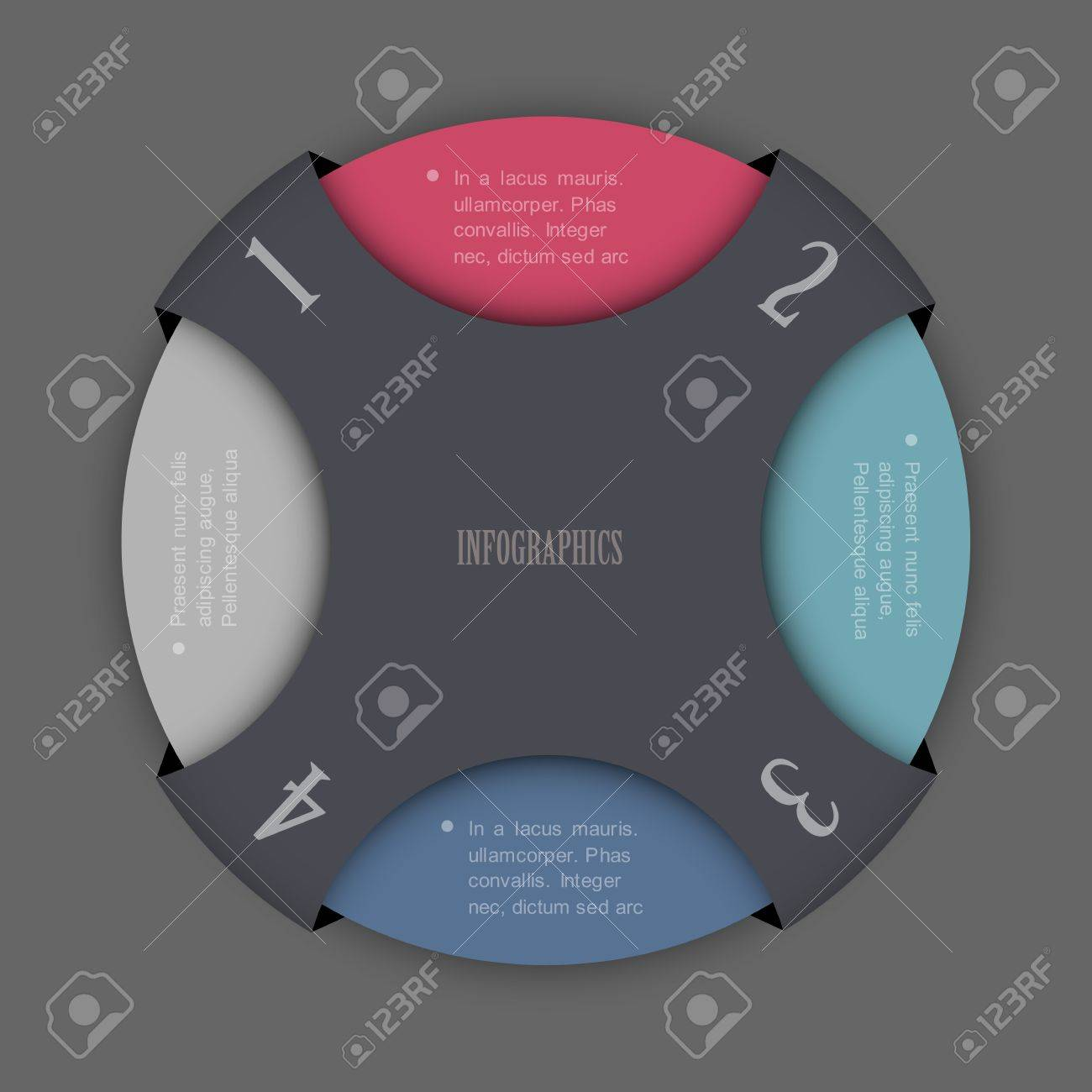 Round Design Template For Infographics And Website Templates ...