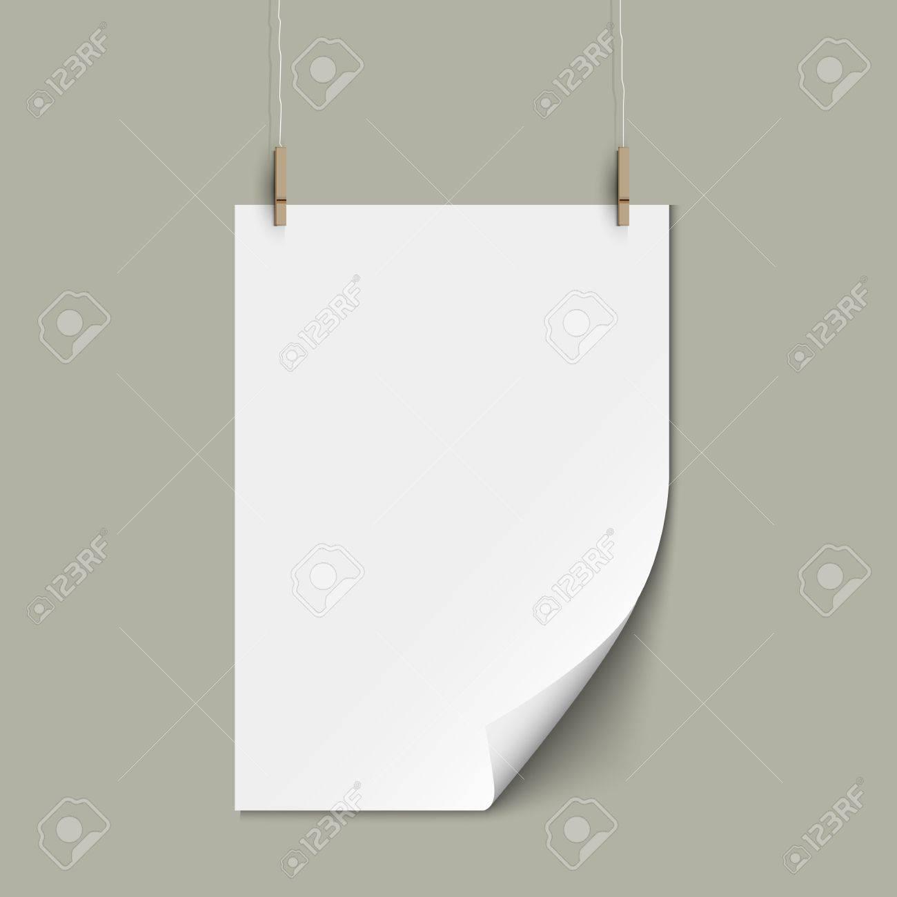 Vector empty paper sheet Stock Vector - 18416620