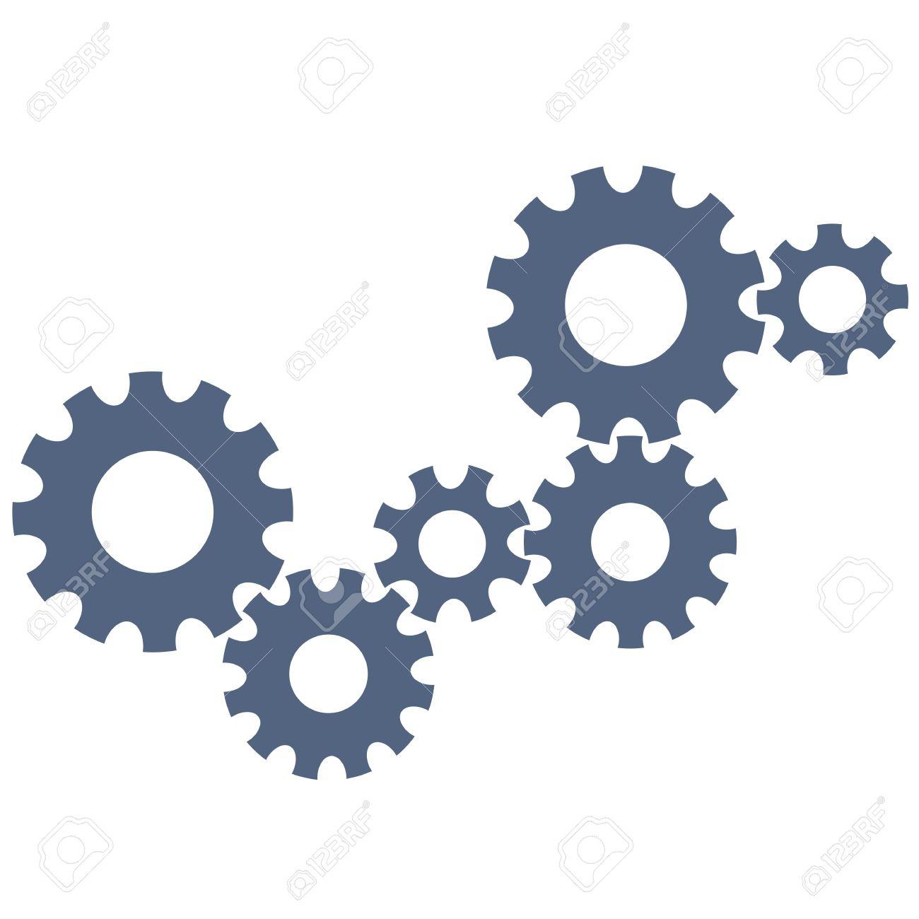 Abstract gear wheels.  design template Stock Vector - 18957172