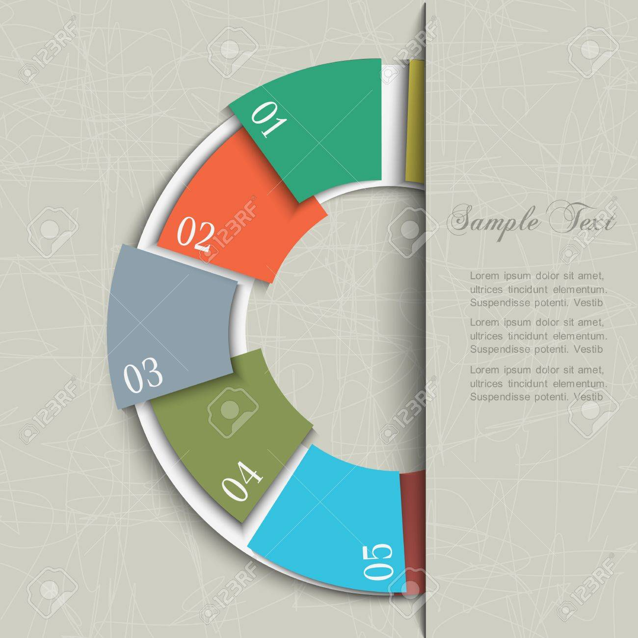 Half Circle Design Template For Infographics And Website Templates ...