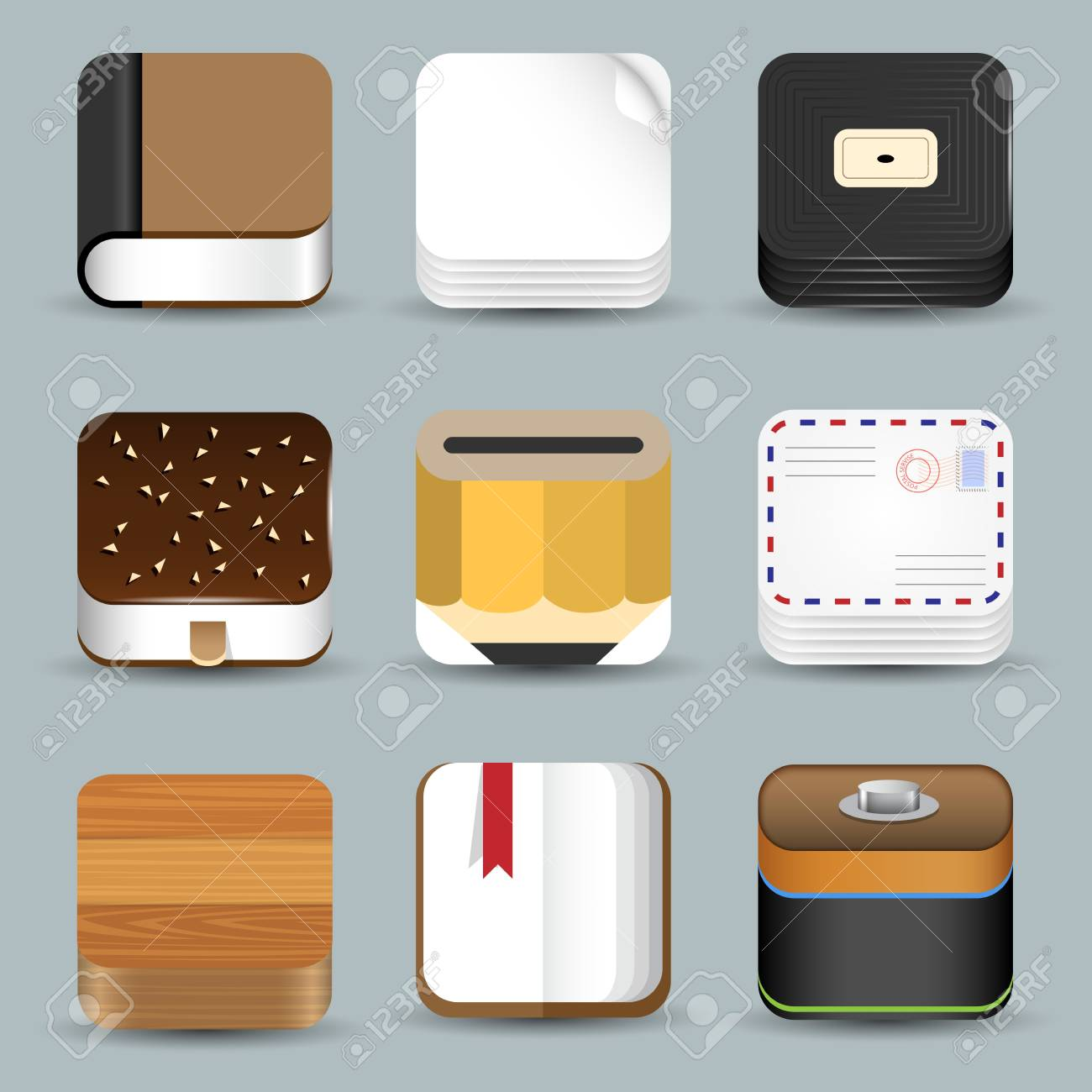 set of App Icons Stock Vector - 19578838