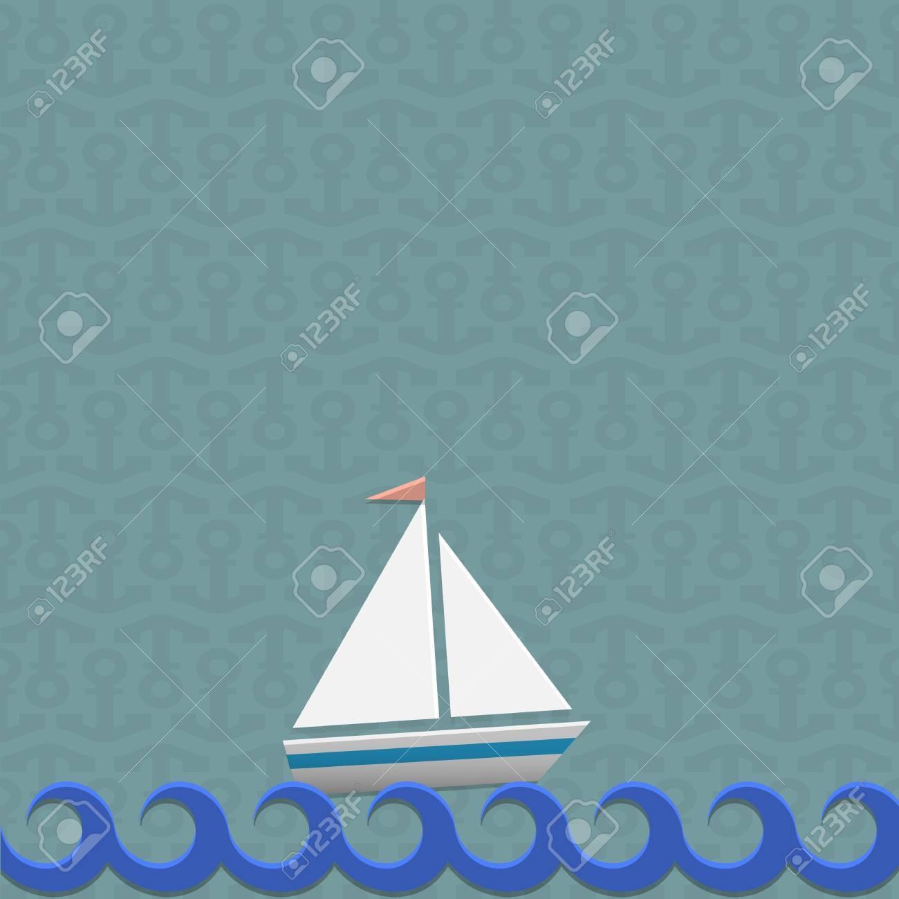 Sailing boat illustration Stock Vector - 19869811