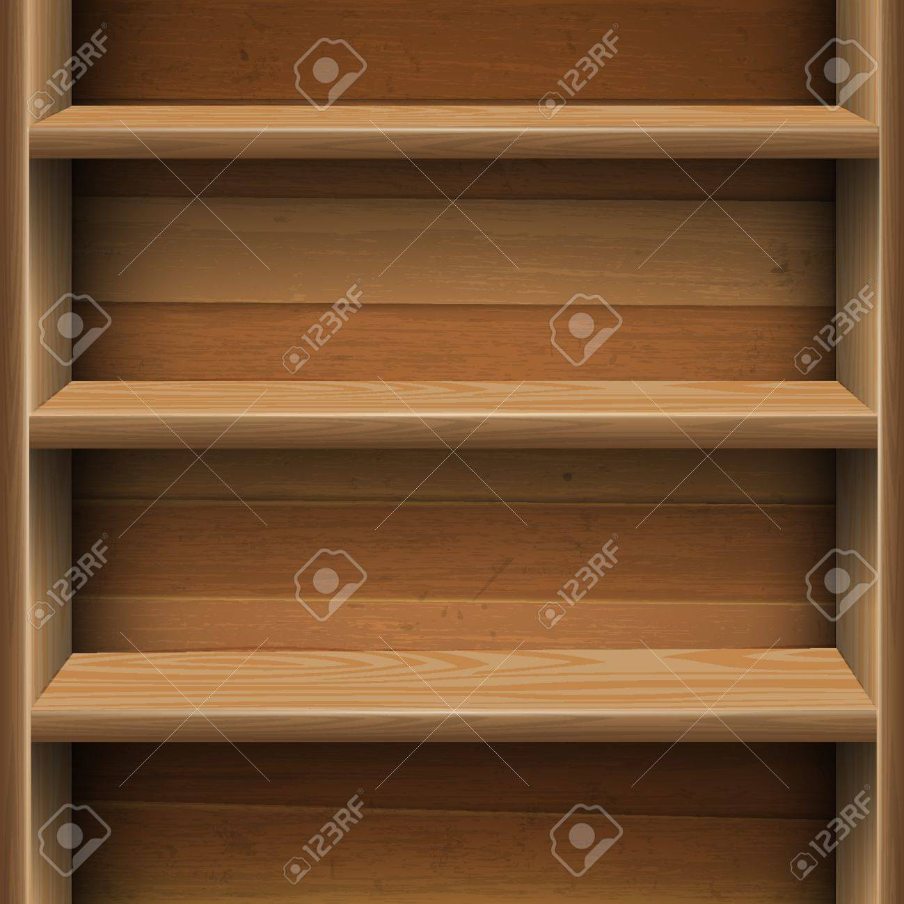 Interior wooden shelves free vector - Wooden Shelf Wooden Shelves Background