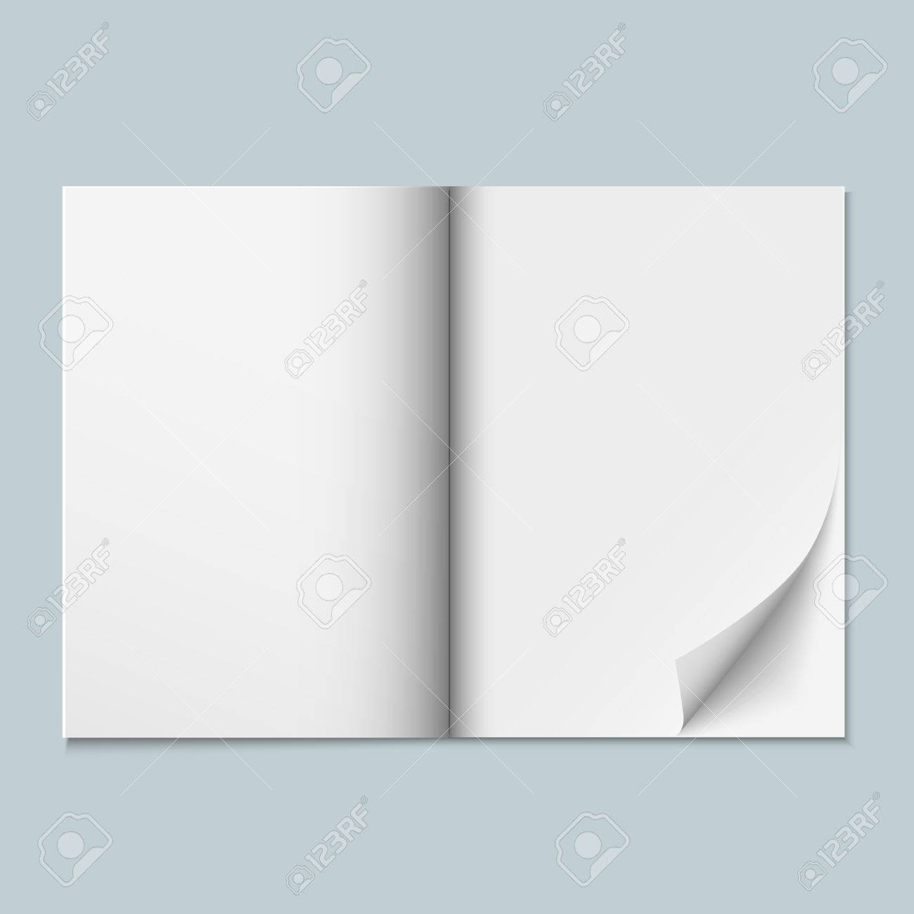 Magazine template with blank pages. Vector eps10 Stock Vector - 20363110