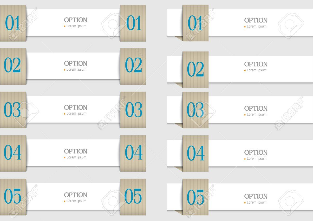 Paper design templates banners for infographics. Vector set Stock Vector - 20363124