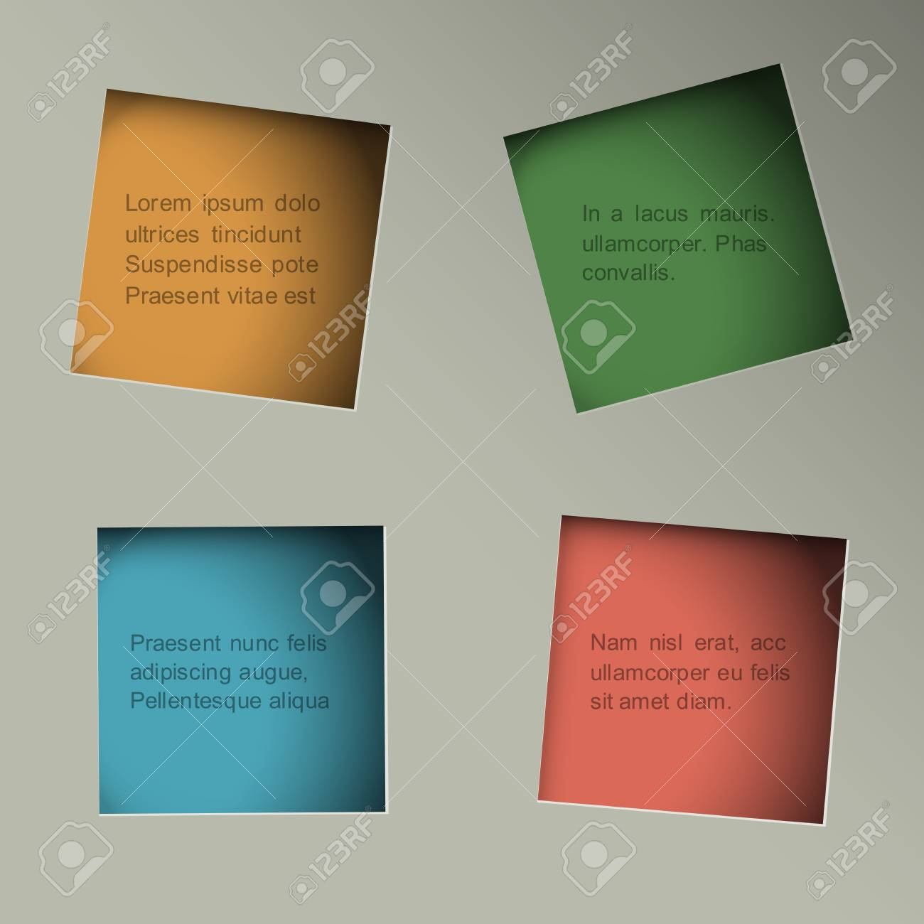 Minimalistic background with square paper holes Stock Vector - 20757932