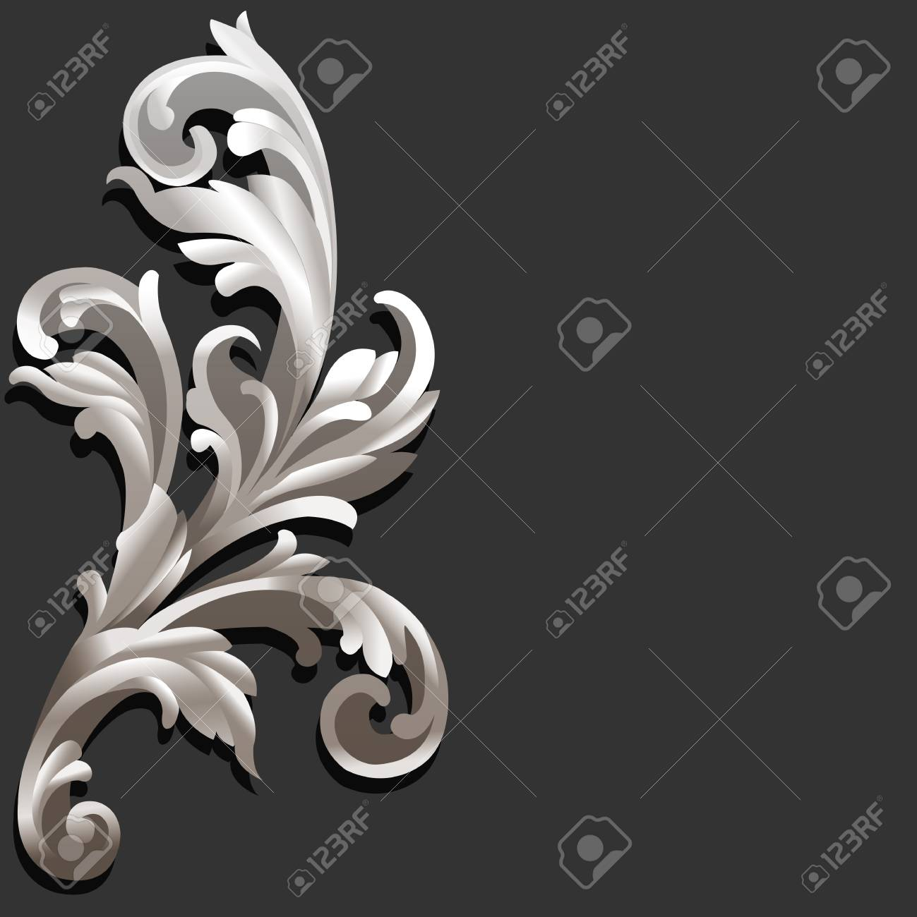 3d Floral Vintage Style vector illustration Stock Vector - 21132480