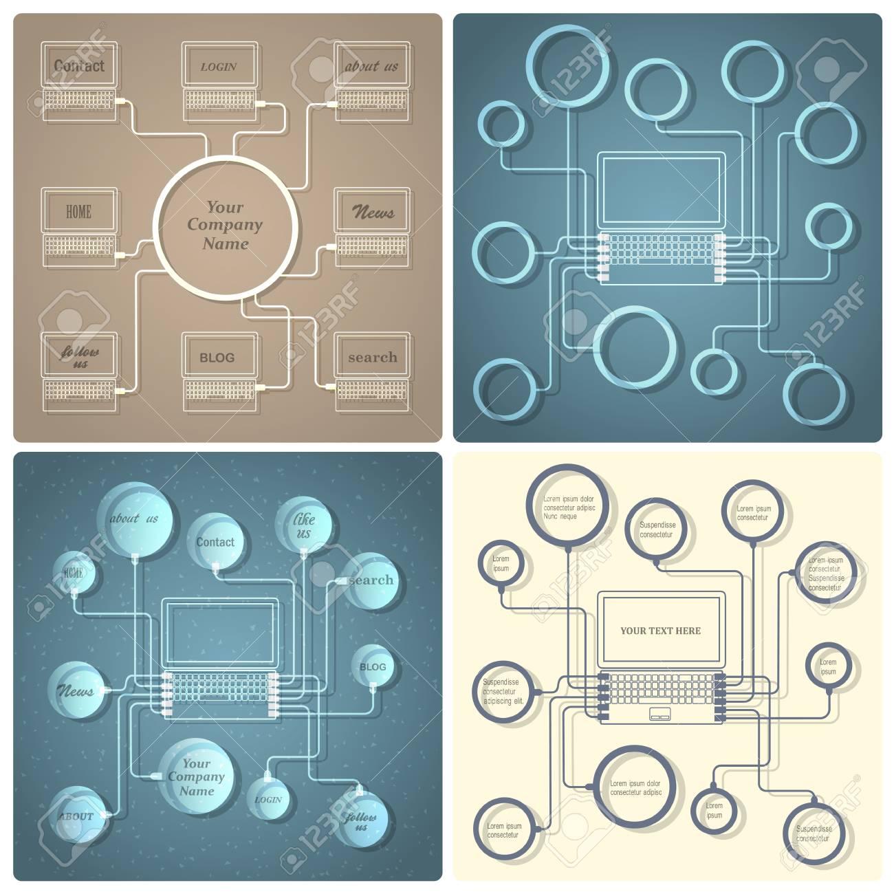 Set of vector creative web design templates Stock Vector - 21397099