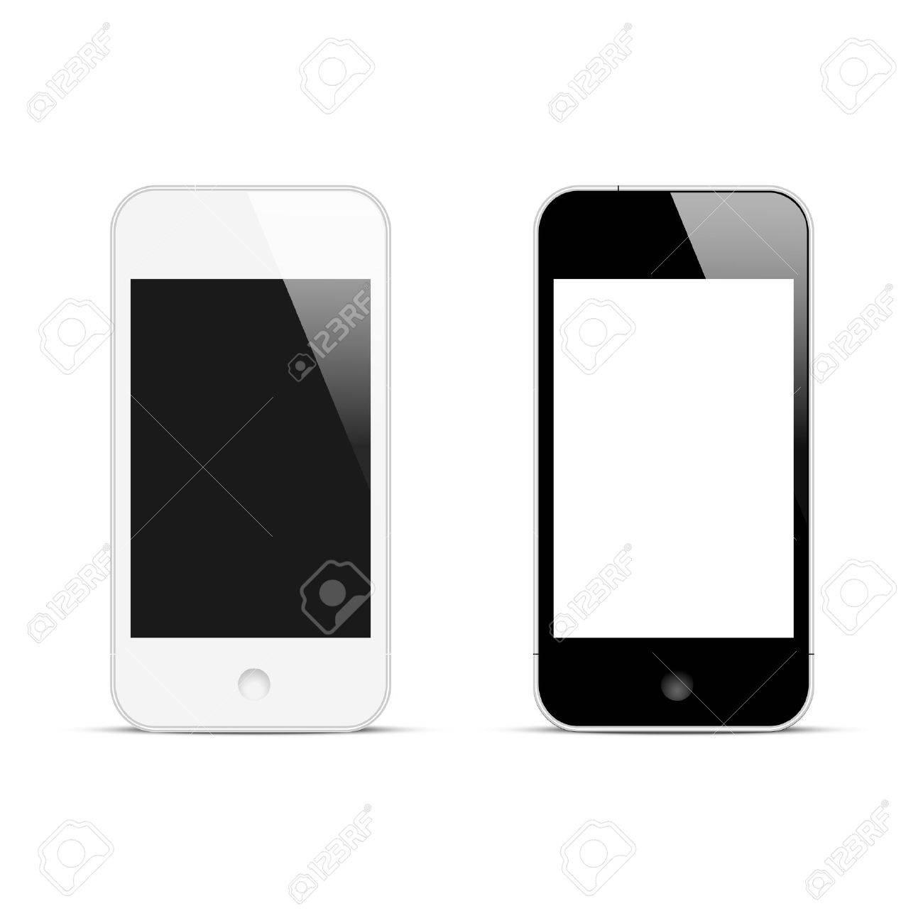 Modern smartphones with blank screen  Vector illustration Stock Vector - 22401859