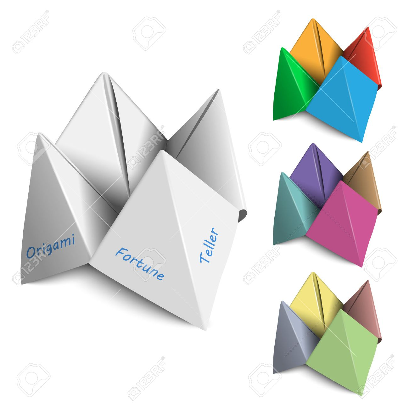 Vector set origami fortune tellers royalty free cliparts vectors vector set origami fortune tellers stock vector 22798899 jeuxipadfo Images