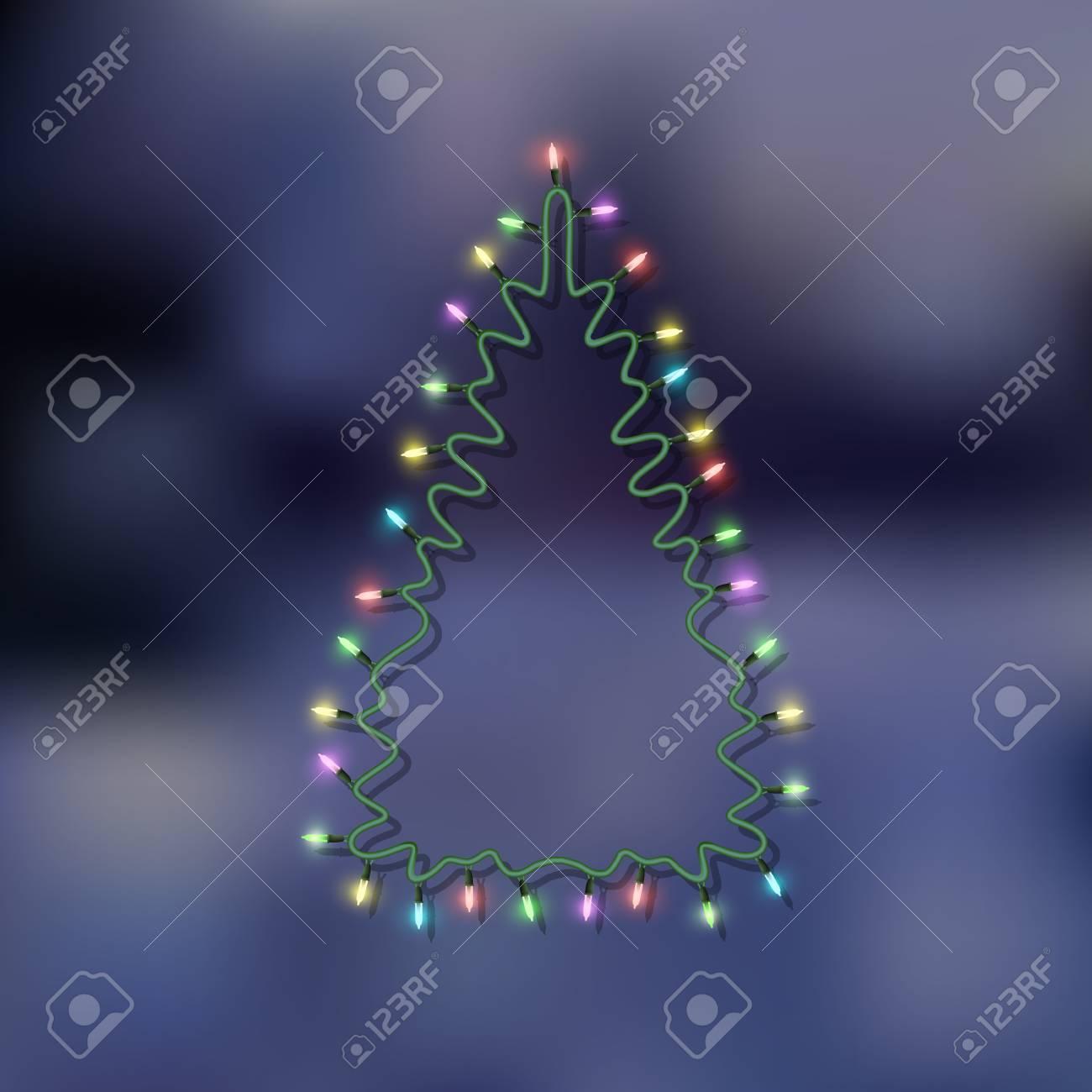 Christmas tree-garland lights. Vector eps10 Stock Vector - 23061415