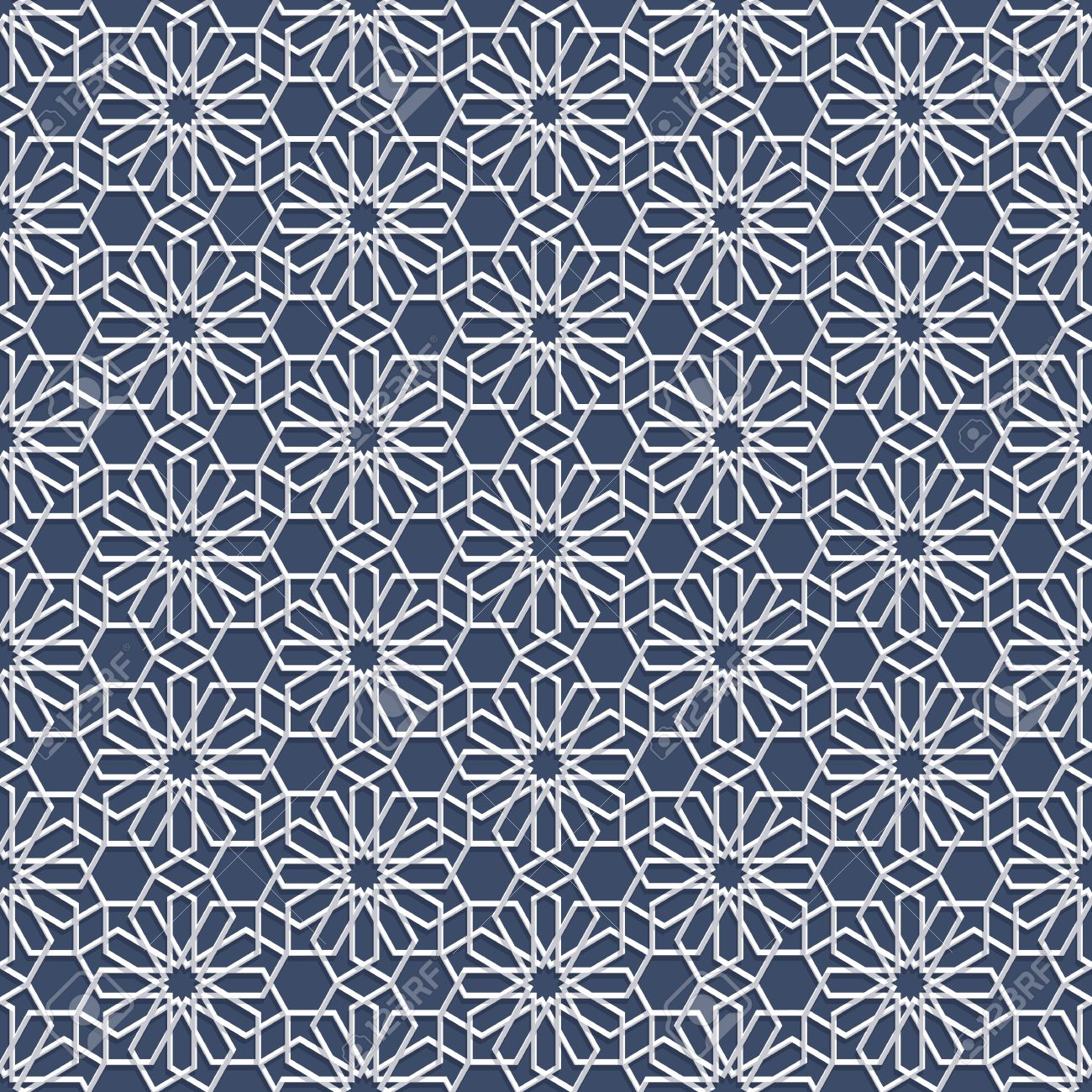 60086714 3d white seamless pattern in arabian style abstract oriental wallpaper islamic design geometric vect