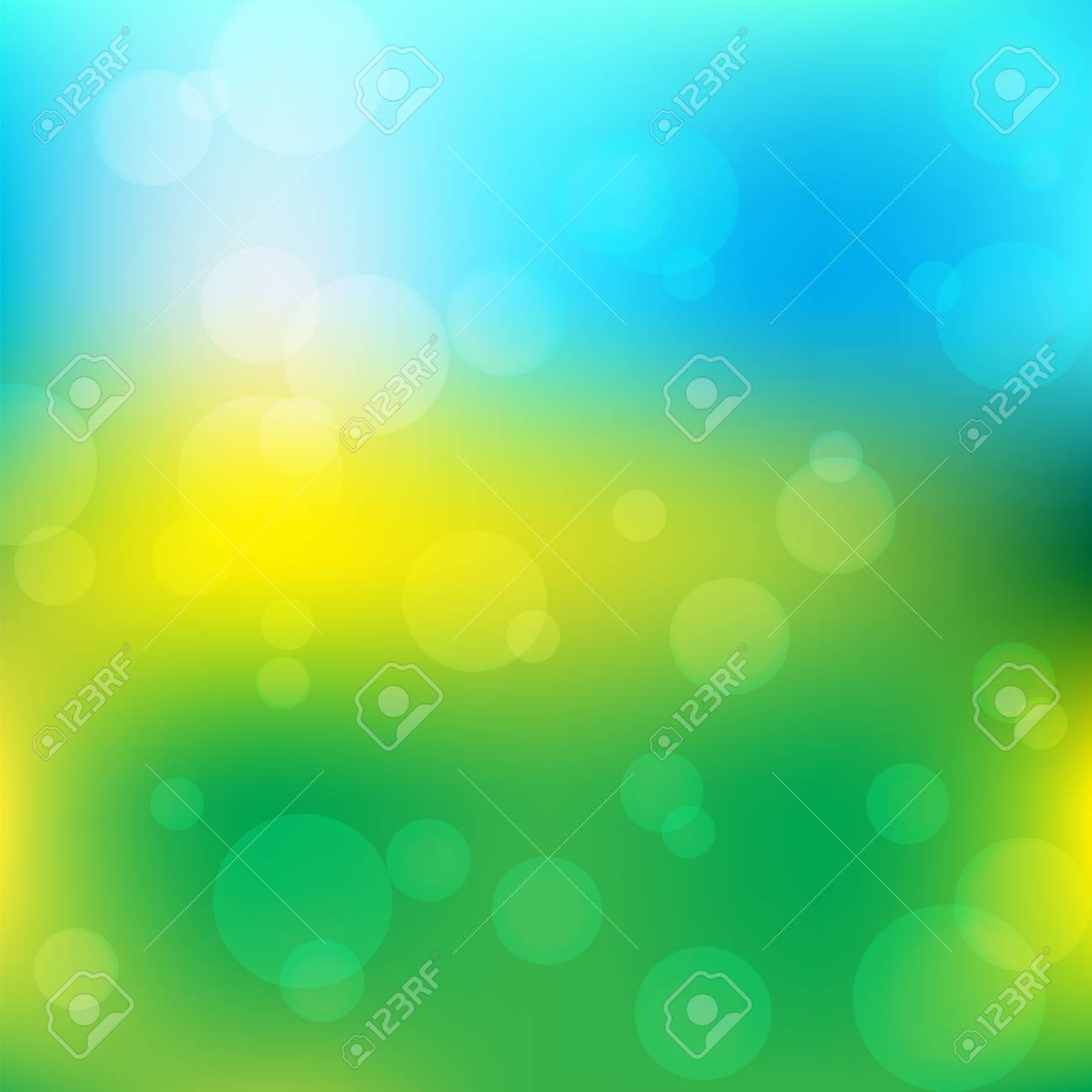 Green Sunny Natural Background Nature Wallpaper Vector Illustration Stock