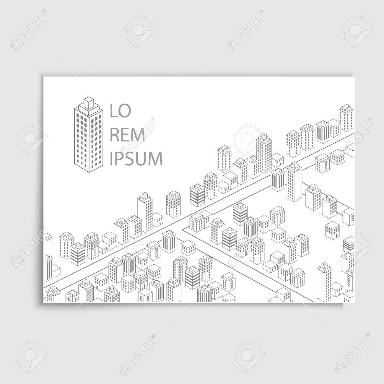 Moderne Broschüre Cover-Vorlage - Monochrom Architektur Stil ...
